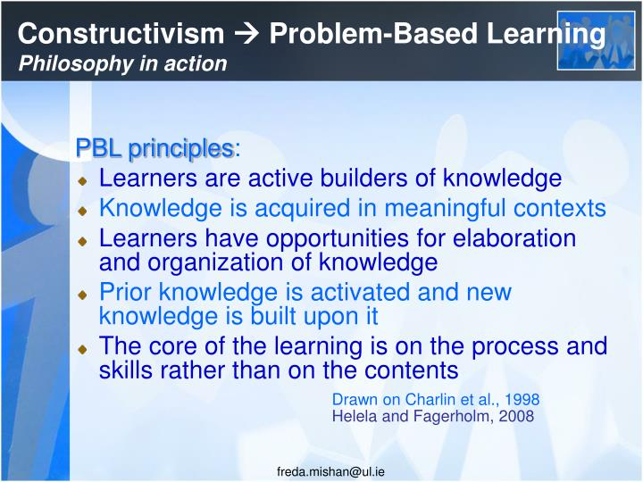 Constructivism problem based learning philosophy in action