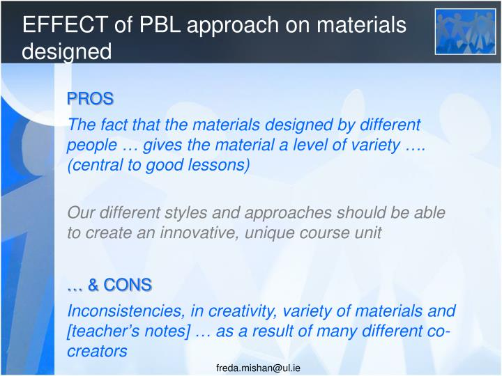 EFFECT of PBL approach on materials designed