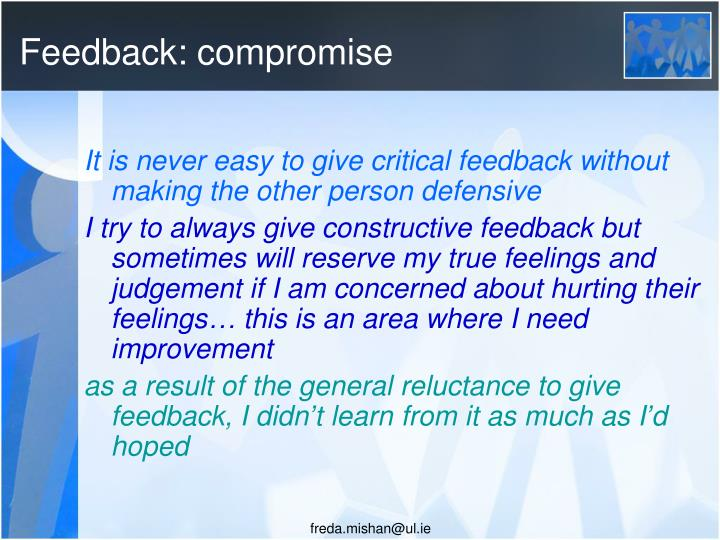 Feedback: compromise