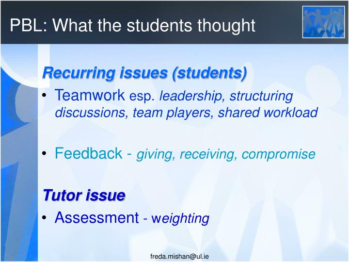 PBL: What the students thought