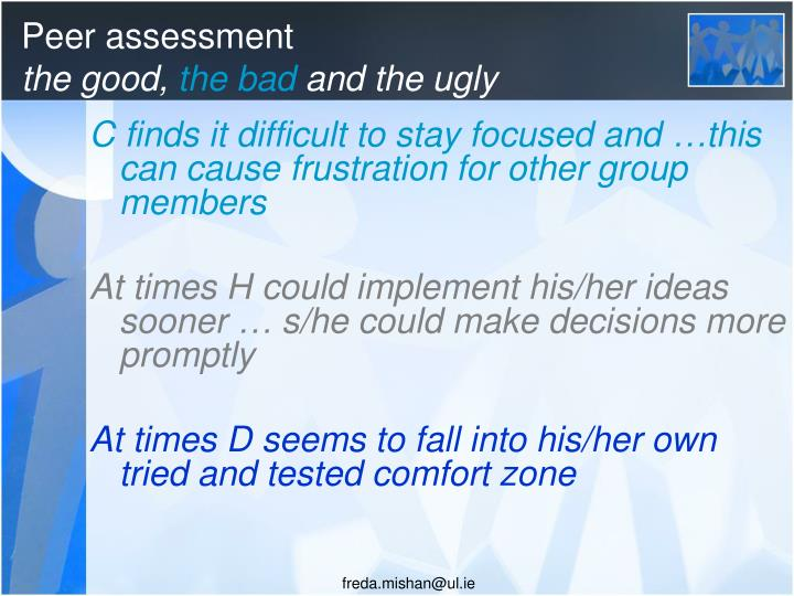 Peer assessment