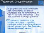 teamwork group dynamics1