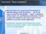 teamwork team players