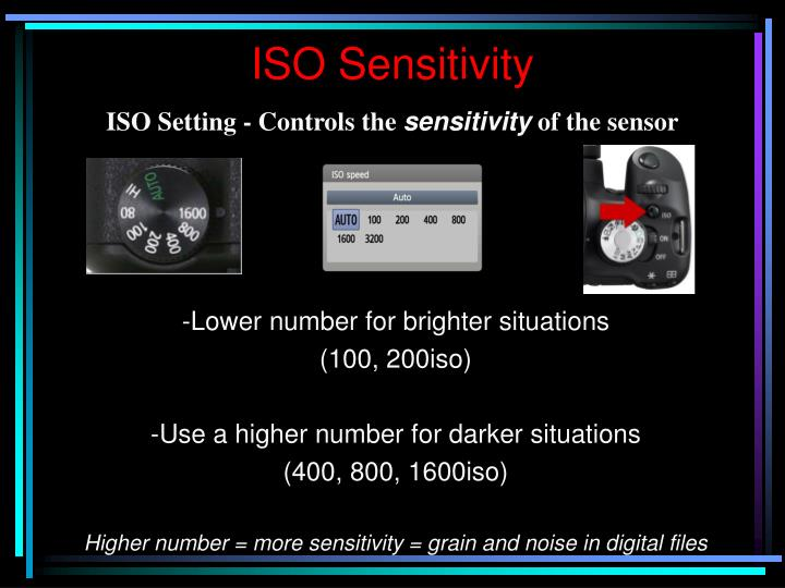 ISO Setting - Controls the