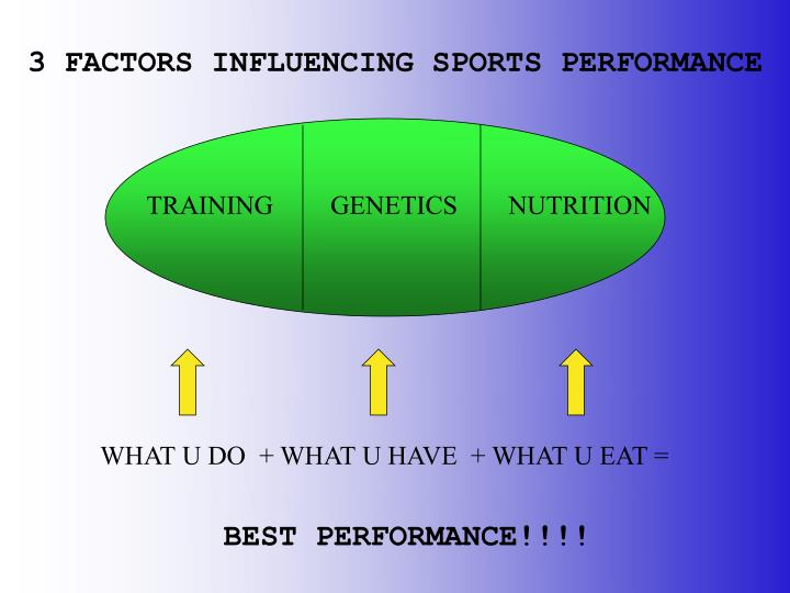 3 FACTORS INFLUENCING SPORTS PERFORMANCE
