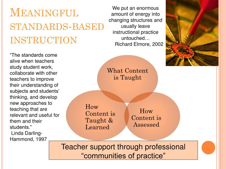 We put an enormous amount of energy into changing structures and usually leave instructional practice untouched…