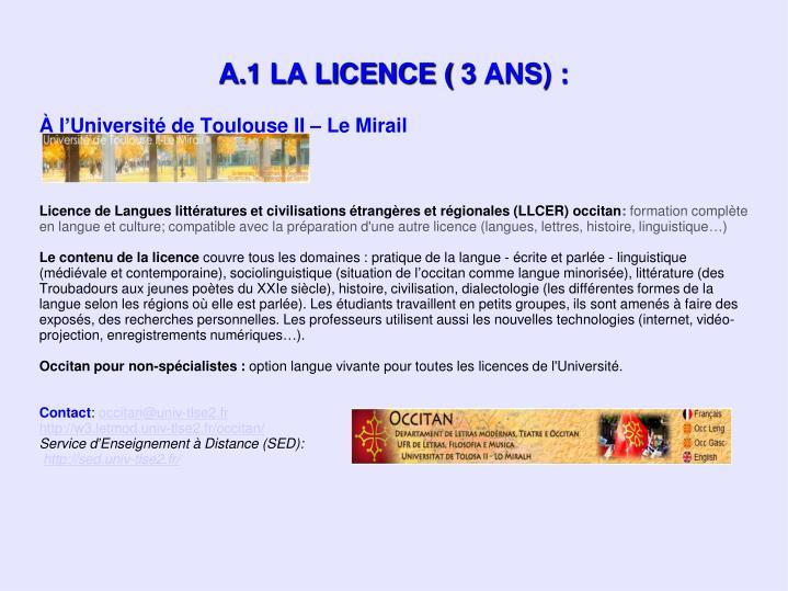 À l'Université de Toulouse II – Le Mirail