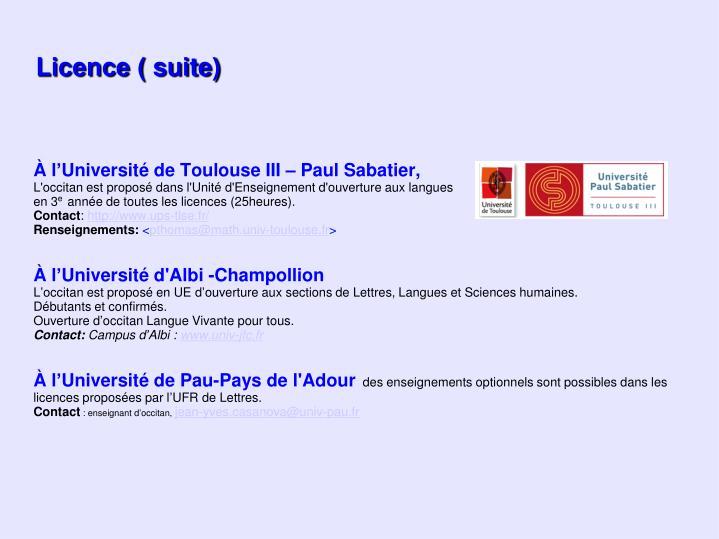 À l'Université de Toulouse III – Paul Sabatier,