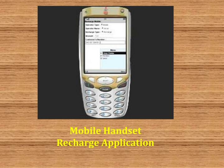 Mobile Handset Recharge Application