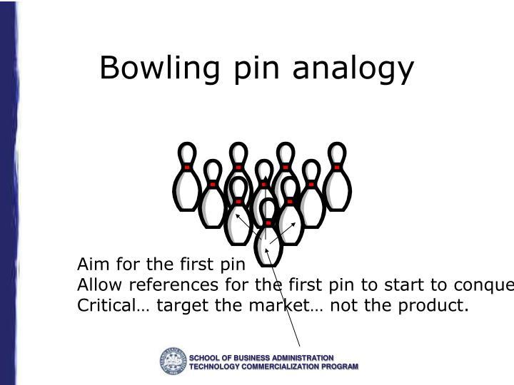 Bowling pin analogy