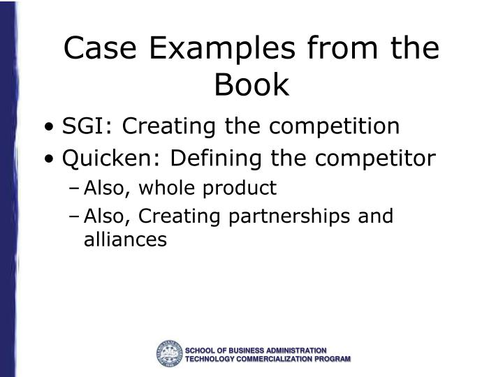 Case Examples from the Book