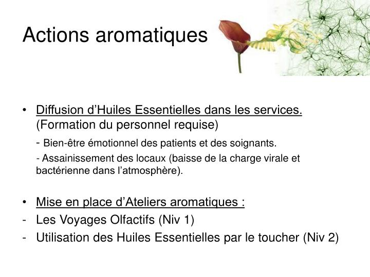 Actions aromatiques