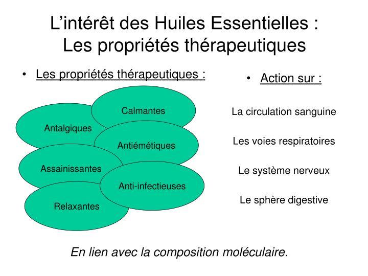 Les propriétés thérapeutiques :