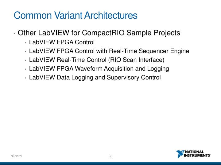 Common Variant Architectures