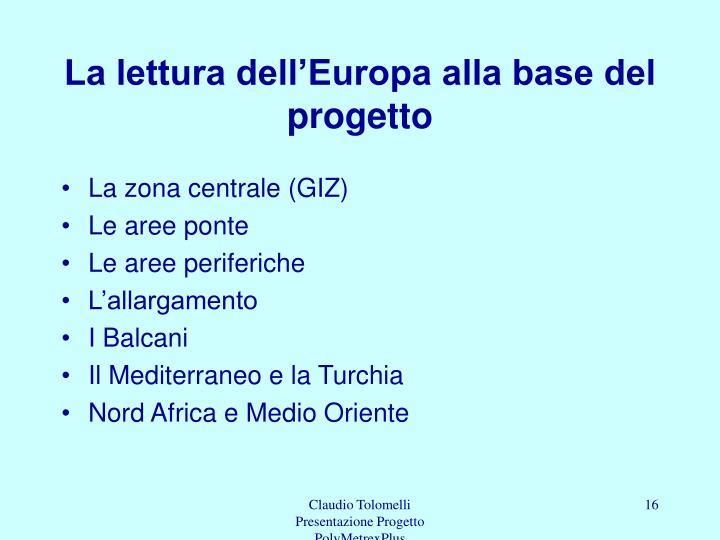 La lettura dell'Europa alla base del progetto