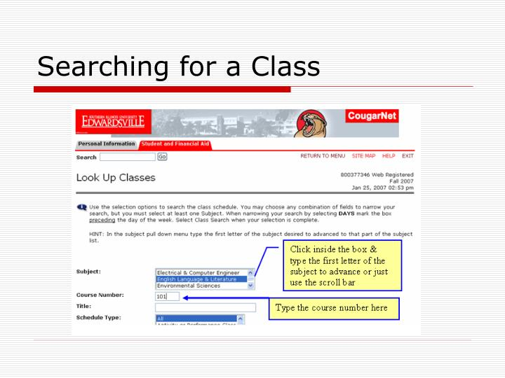 Searching for a Class