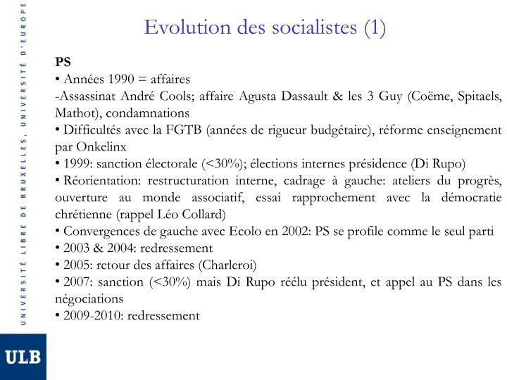 Evolution des socialistes (1)