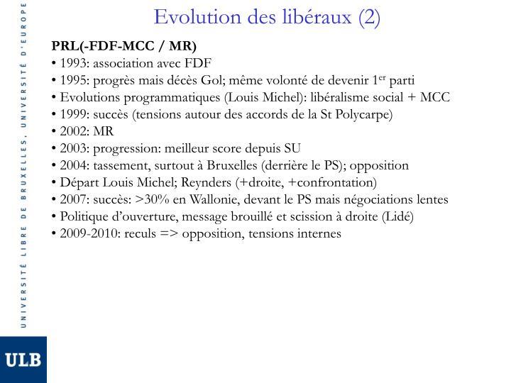 Evolution des libéraux (2)