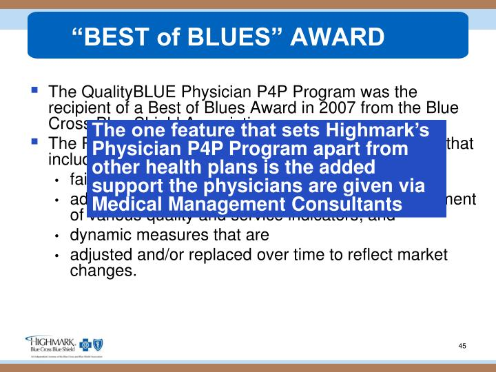 """BEST of BLUES"" AWARD"
