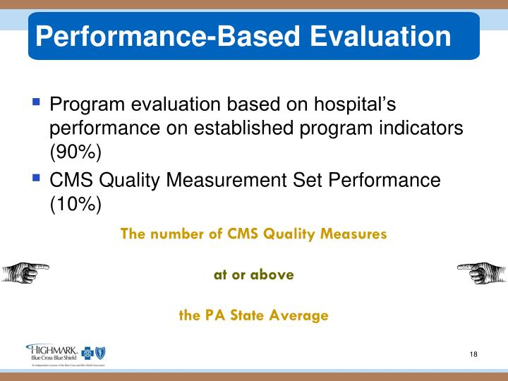 Performance-Based Evaluation