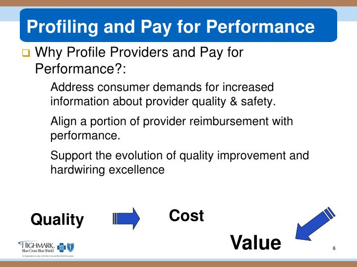 Profiling and Pay for Performance