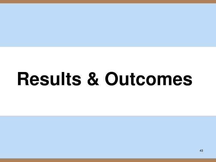 Results & Outcomes