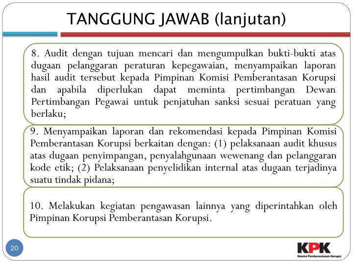 TANGGUNG JAWAB (lanjutan)