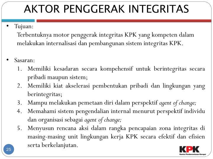AKTOR PENGGERAK INTEGRITAS