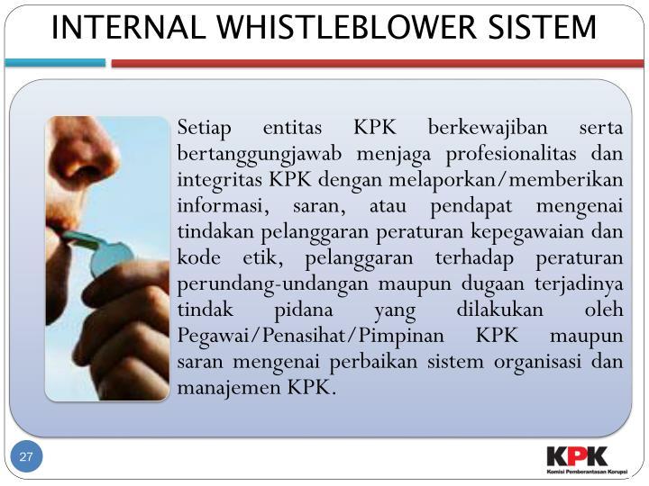 INTERNAL WHISTLEBLOWER SISTEM