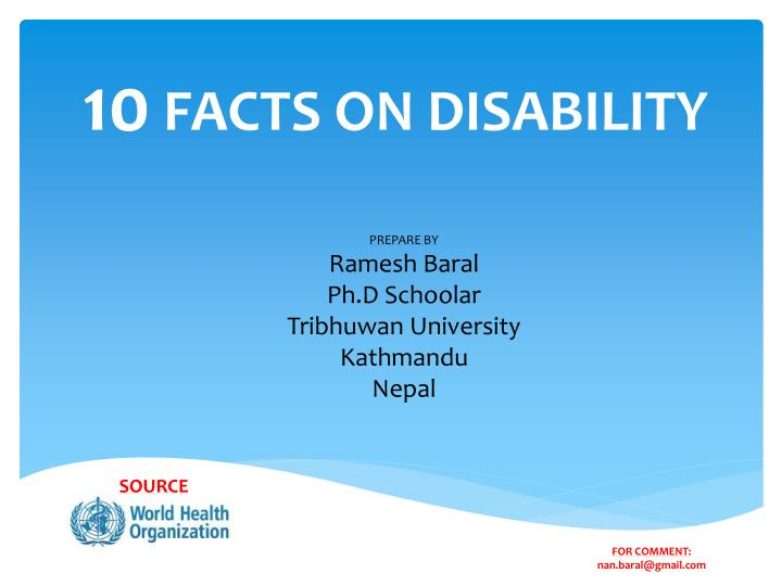 10 facts on disability