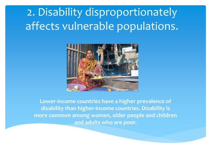 2 disability disproportionately affects vulnerable populations