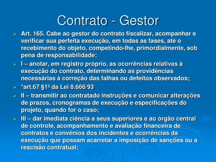 Contrato - Gestor