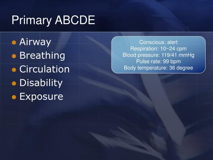Primary ABCDE