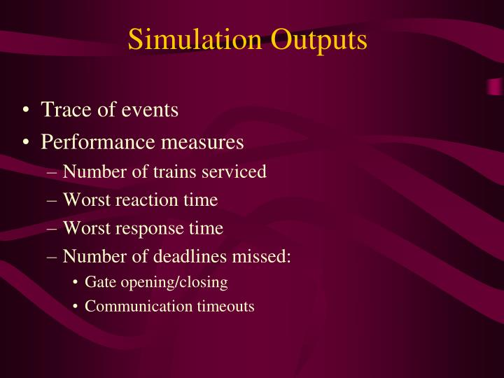 Simulation Outputs
