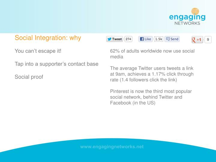 Social Integration: why