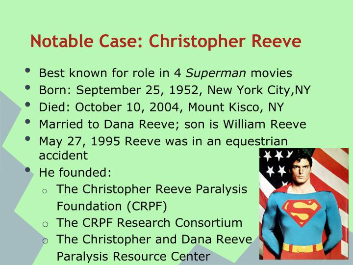Notable Case: Christopher Reeve