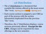 1st distribution