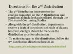 directions for the 2 nd distribution
