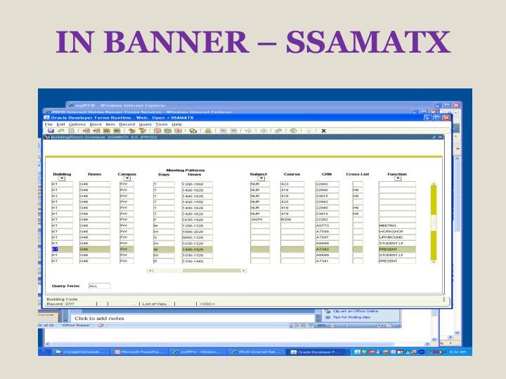 IN BANNER – SSAMATX