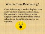 what is cross referencing