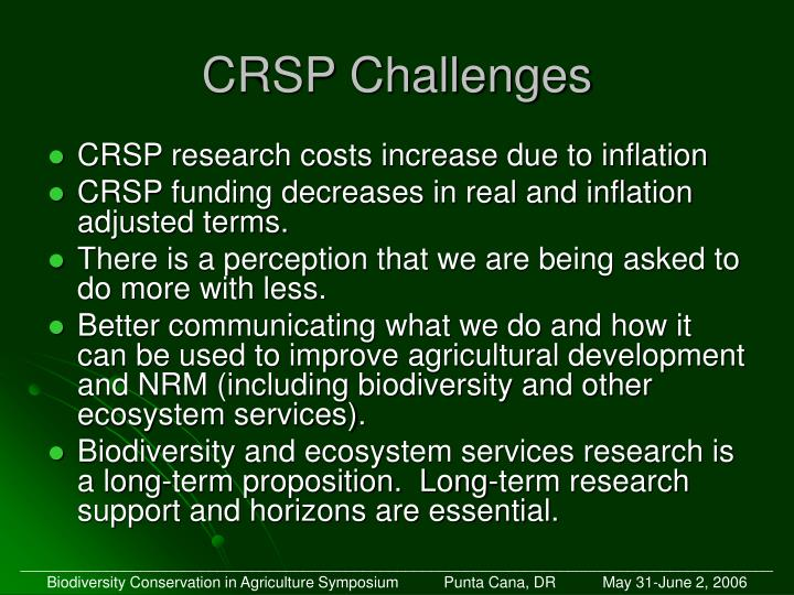 CRSP Challenges