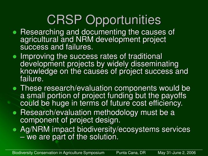 CRSP Opportunities