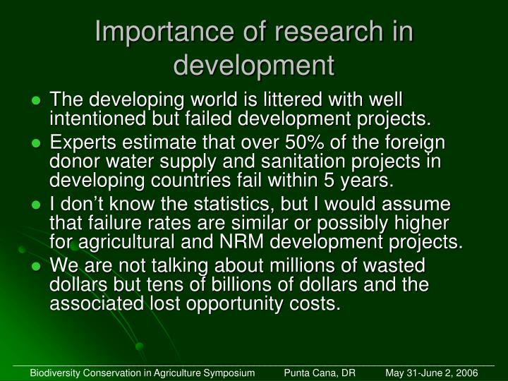 Importance of research in development