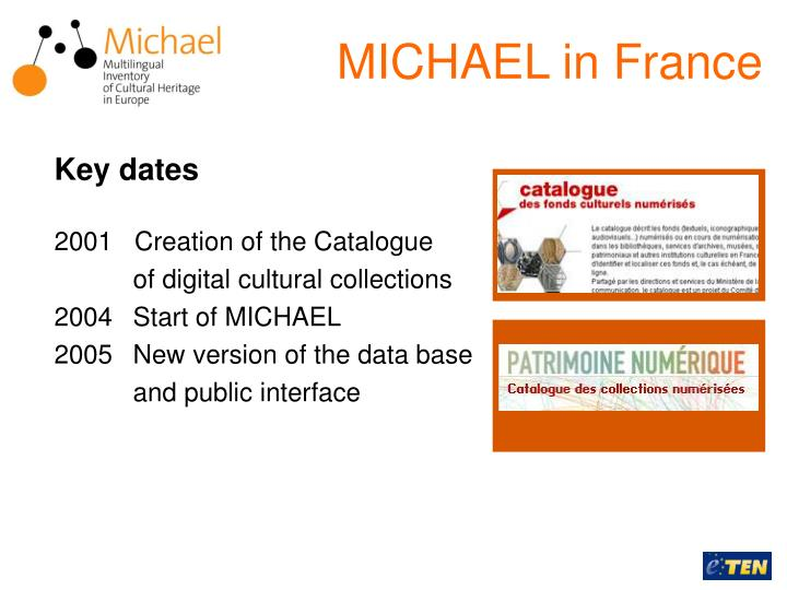 MICHAEL in France