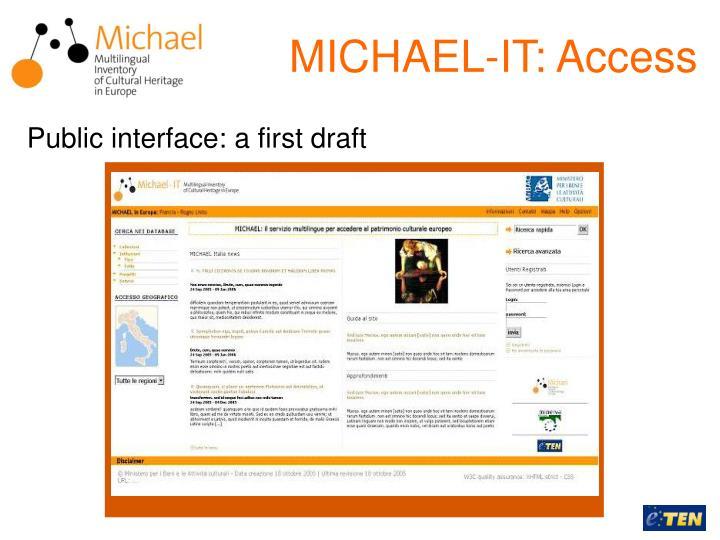 MICHAEL-IT: Access