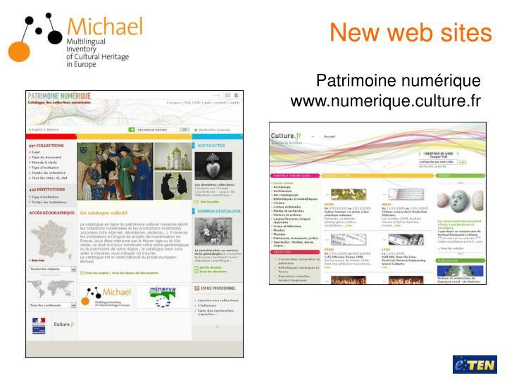 New web sites