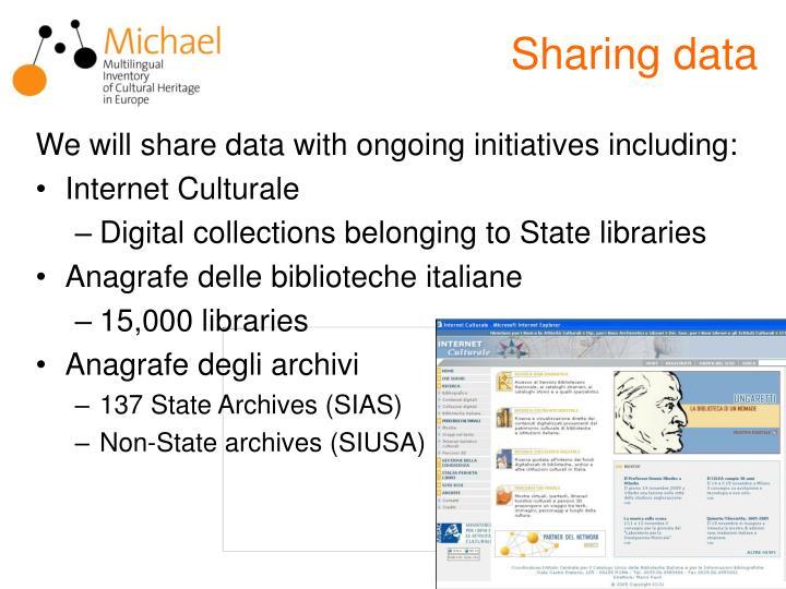 Sharing data