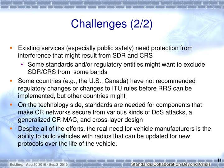Challenges (2/2)