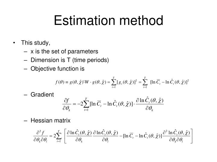 Estimation method