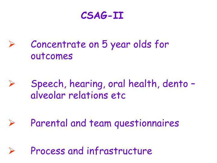 CSAG-II